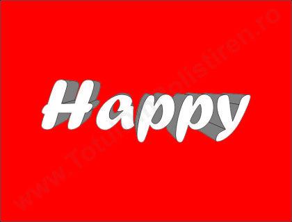 Cuvantul Happy din Polistiren CHDP1